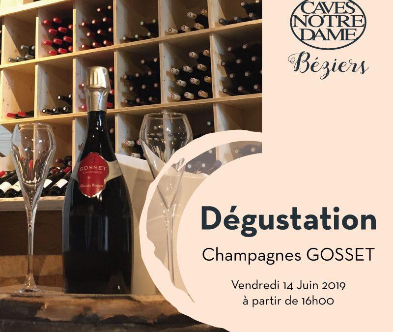 Dégustation Champagnes Gosset Timelines: Dégustation Juin 2019
