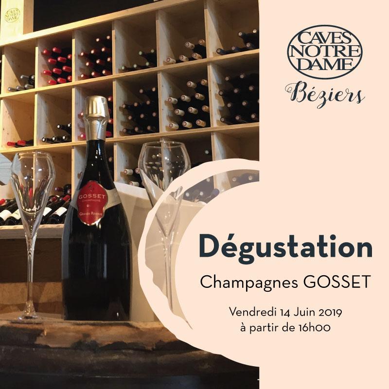 Dégustation Champagnes Gosset