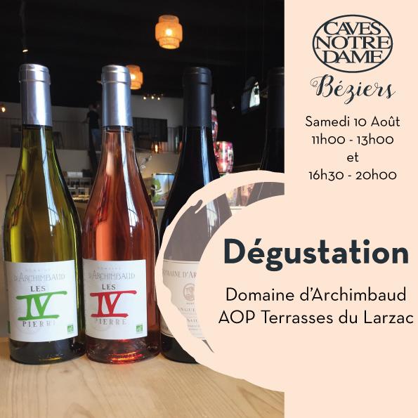 Domaine Archimbaud – AOP Terrasses du Larzac Timelines: Dégustation de Vin Août 2019