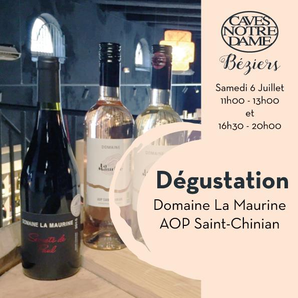 Domaine La Maurine – AOP Saint-Chinian Timelines: Dégustation Juillet 2019