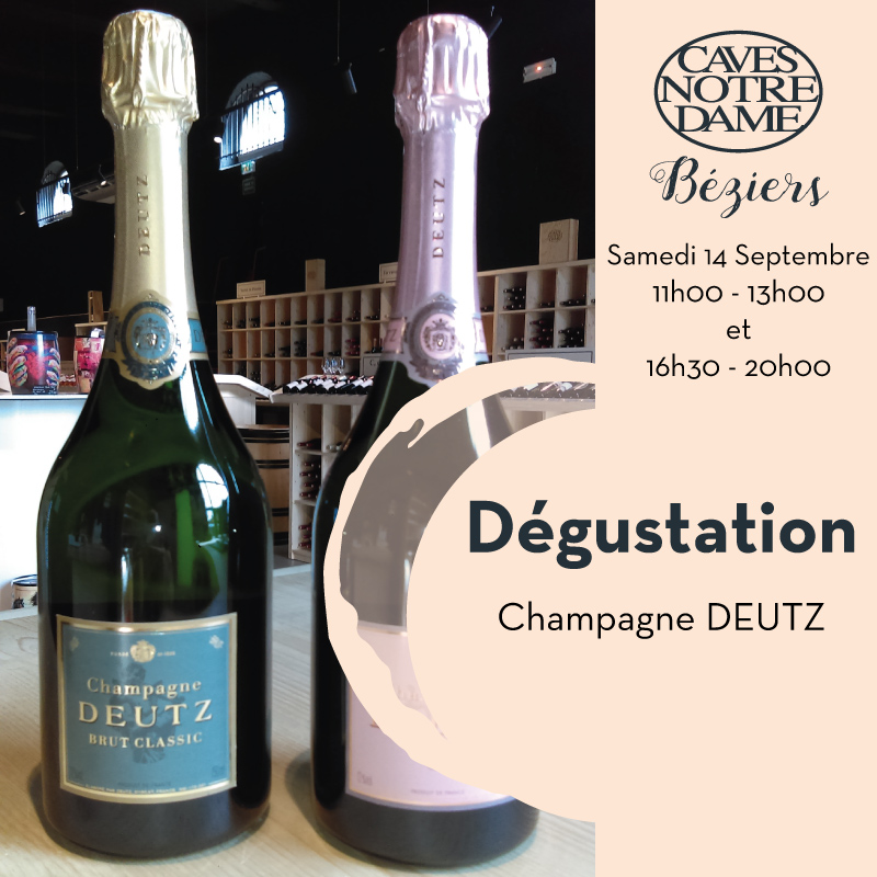 Dégustation Champagne Deutz