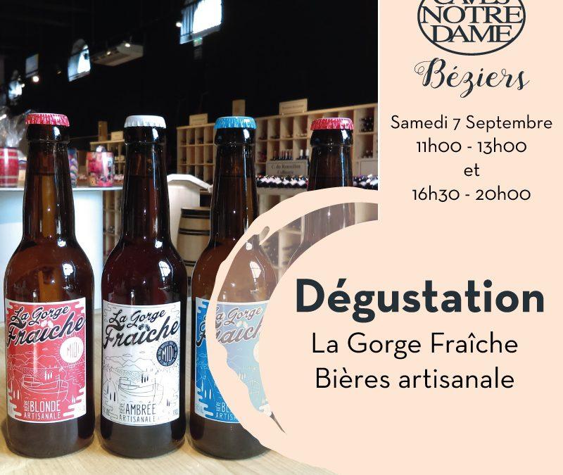 La Gorge Fraîche – Bières Artisanale Timelines: Dégustation de vin Septembre 2019