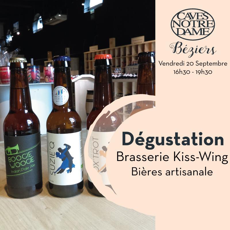 Dégustation Bières Artisanales Kiss-Wing