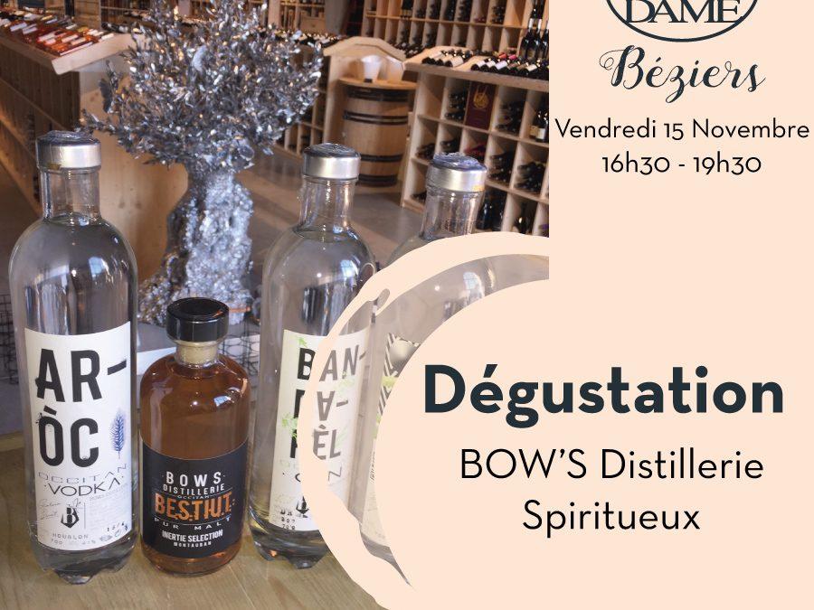 BOW'S Distillerie Spiritueux Timelines: Dégustation de Vin Novembre 2019