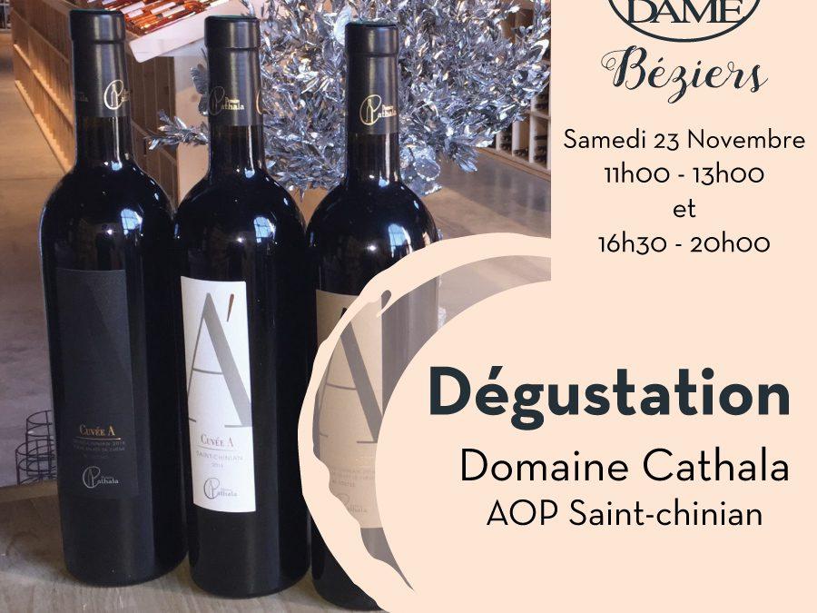 Domaine Cathala – AOP Saint-Chinian Timelines: Dégustation de Vin Novembre 2019
