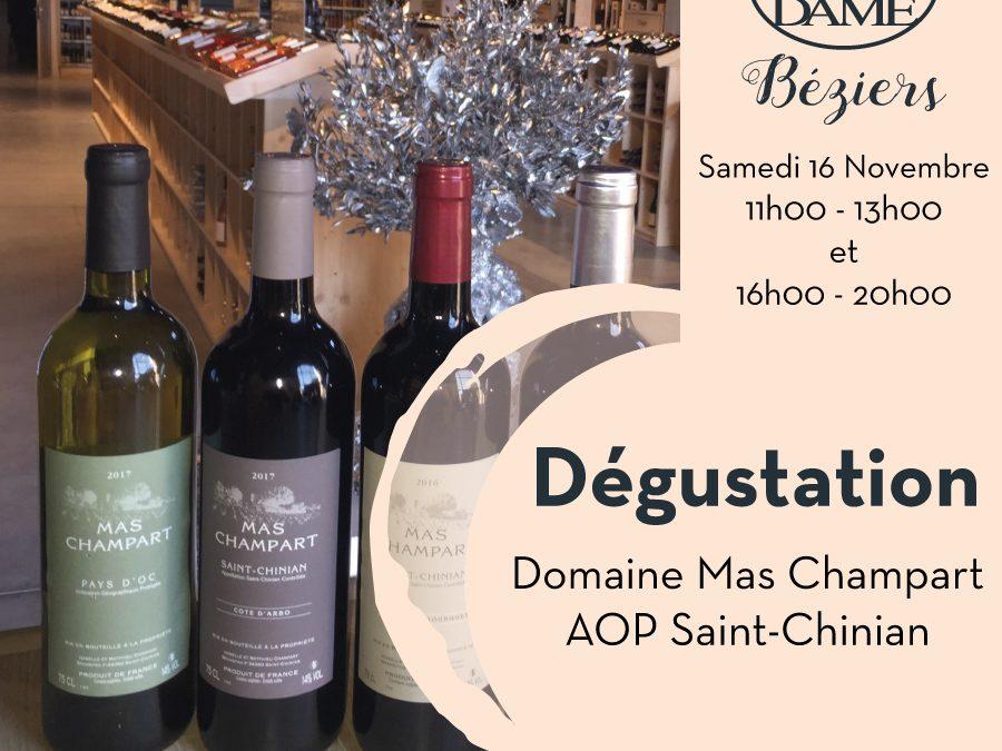 Domaine Mas Champart AOP Saint-Chinian Timelines: Dégustation de Vin Novembre 2019