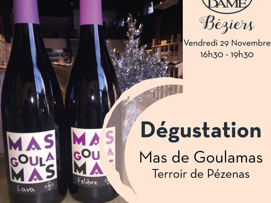 Domaine Mas Goulamas – Terroir de Pézenas Timelines: Dégustation de Vin Novembre 2019