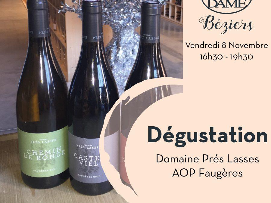 Domaine Prés Lasses – AOP Faugères Timelines: Dégustation de Vin Novembre 2019