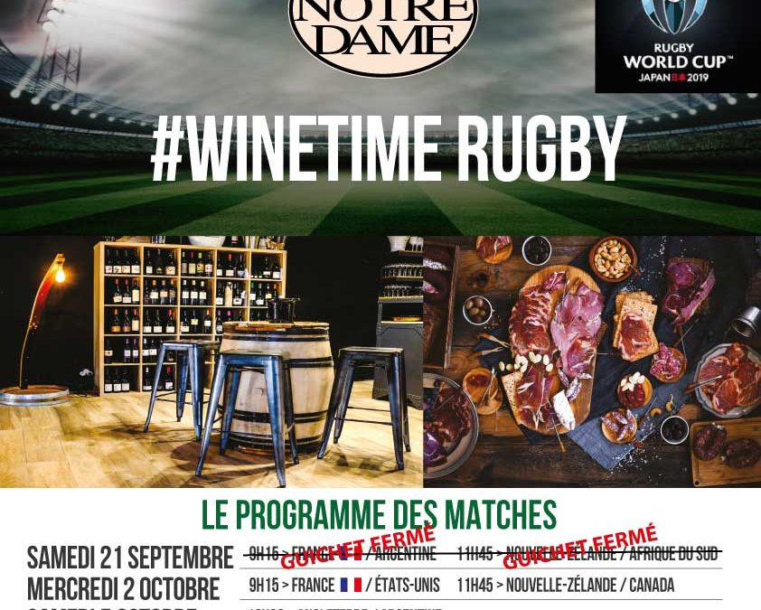 #Winetime Rugby – France / USA 			Timelines: Dégustation de Vin Octobre 2019