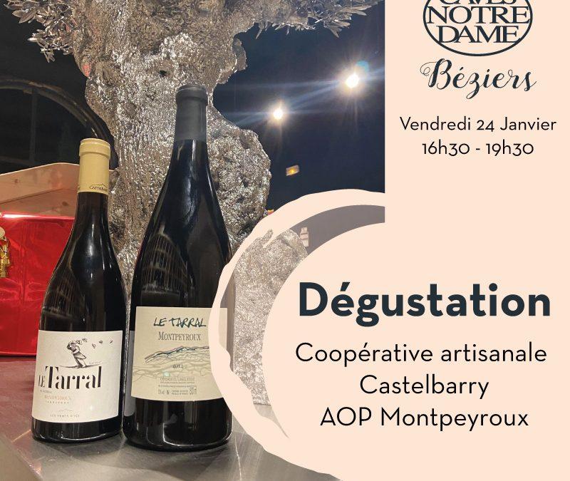 Coopérative artisanale de Castelbarry Timelines: Dégustation de Vin Janvier 2020