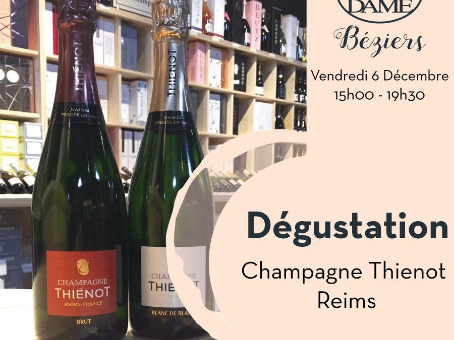 Champagne Thiénot – Reims Timelines: Dégustation de Vin Décembre 2019