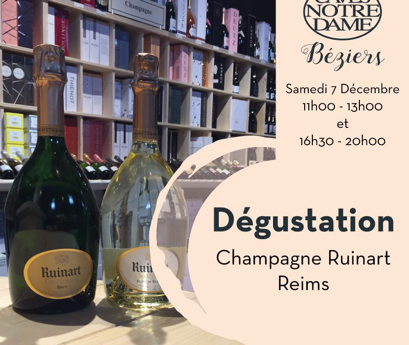 Dégustation Maison de champagne Ruinart