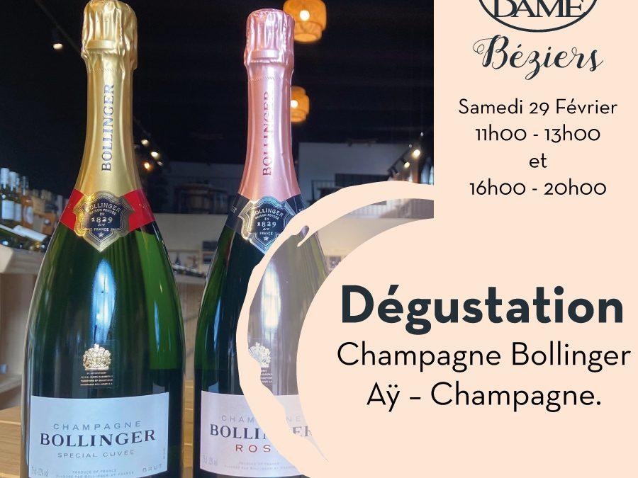 Champagne Bollinger – Aÿ – Champagne. Timelines: Dégustations vigneronnes du mois de Février 2020