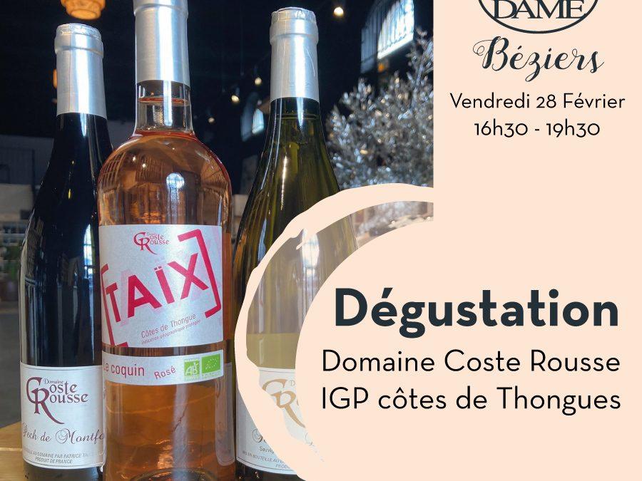Domaine Coste Rousse – Magalas – Igp côtes de Thongues Timelines: Dégustations vigneronnes du mois de Février 2020