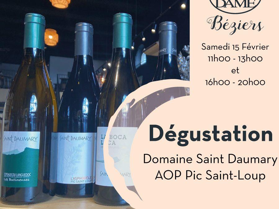 Saint Daumary – Valflaunès – Aop Pic Saint-Loup Timelines: Dégustations vigneronnes du mois de Février 2020