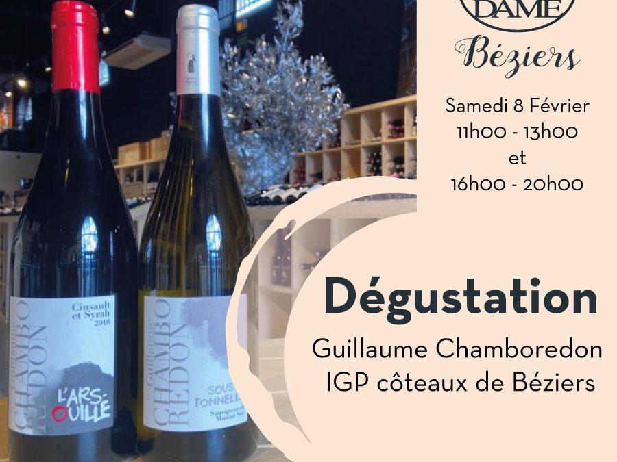 Guillaume Chamboredon – Béziers – Igp côteaux de Béziers Timelines: Dégustations vigneronnes du mois de Février 2020