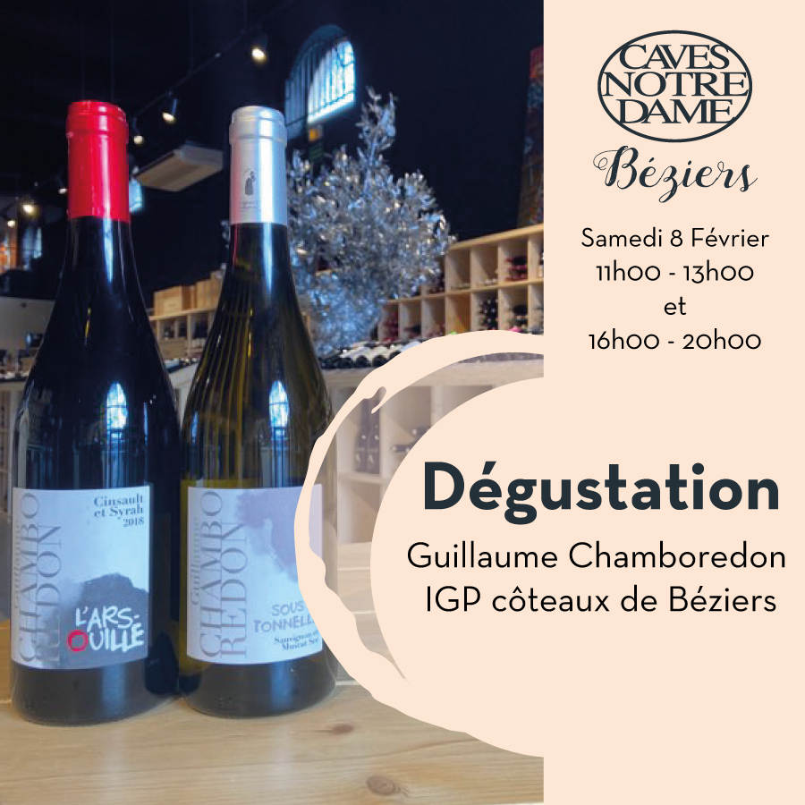 Guillaume Chamboredon – Béziers – Igp côteaux de Béziers