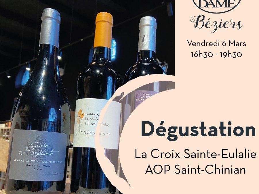 La Croix Sainte-Eulalie – Pierrerue – AOP Saint-Chinian Timelines: Dégustation de Vin Mars 2020