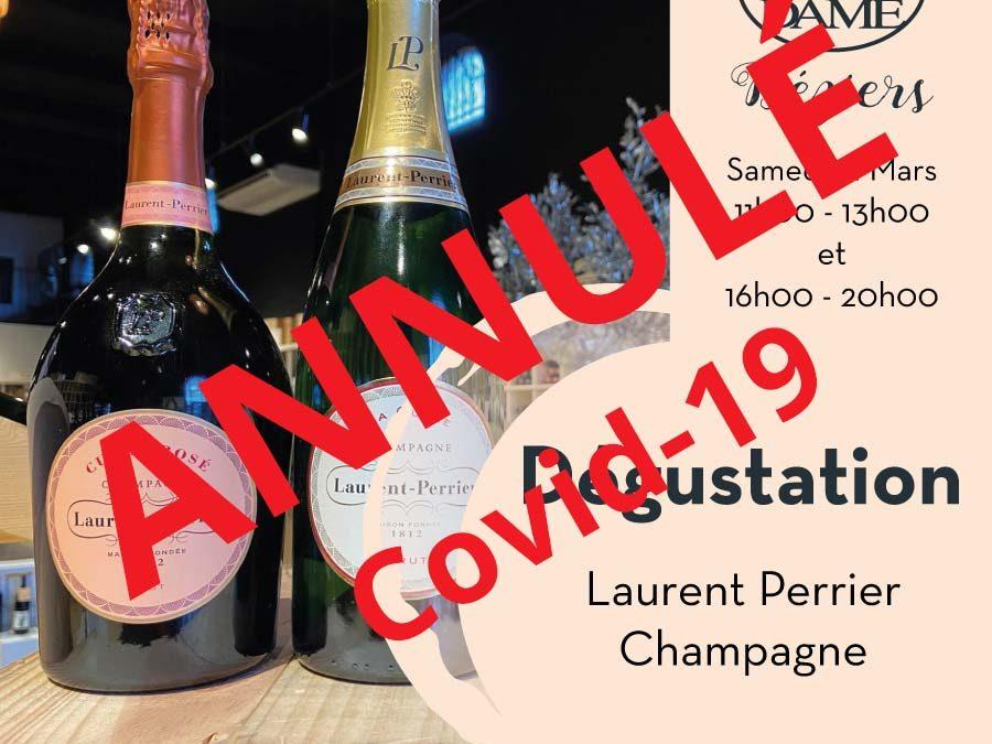 Degustation Laurent Perrier Annulé Covid-19