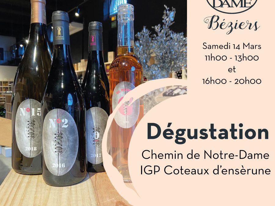 Chemin de Notre-Dame – Maraussan – IGP Coteaux d'ensèrune Timelines: Dégustation de Vin Mars 2020