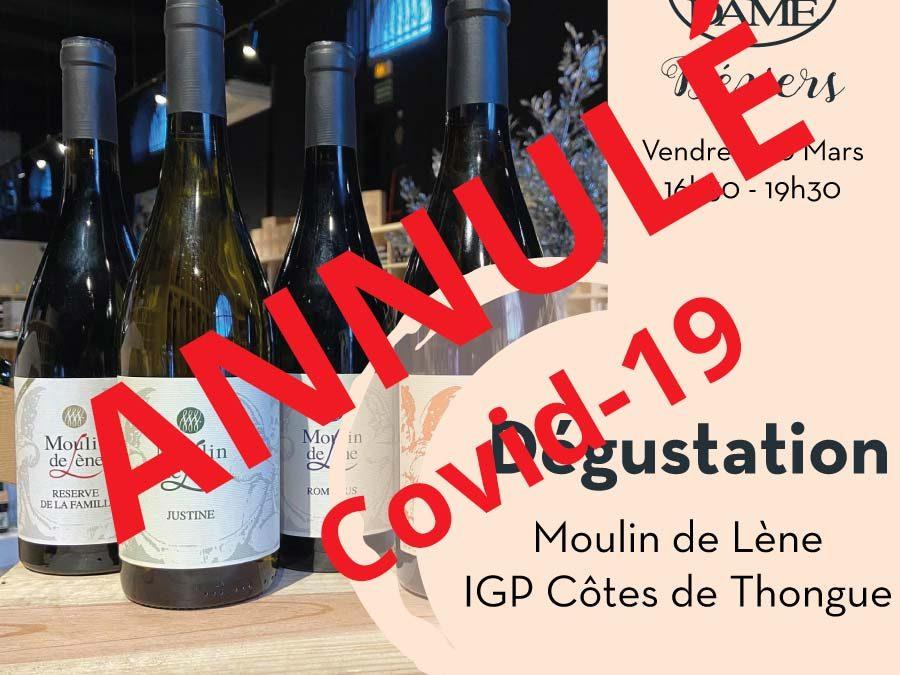 Moulin de Lène – Magalas – IGP Côtes de Thongue Timelines: Dégustation de Vin Mars 2020